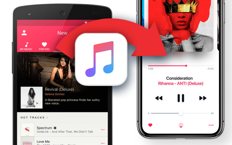 Transfer Music from Android to iPhone No iTunes No Computer